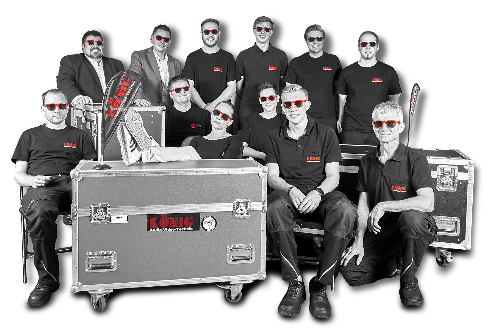 Die Menschen hinter KÖNIG Audio-Video-Technik - Teamfoto